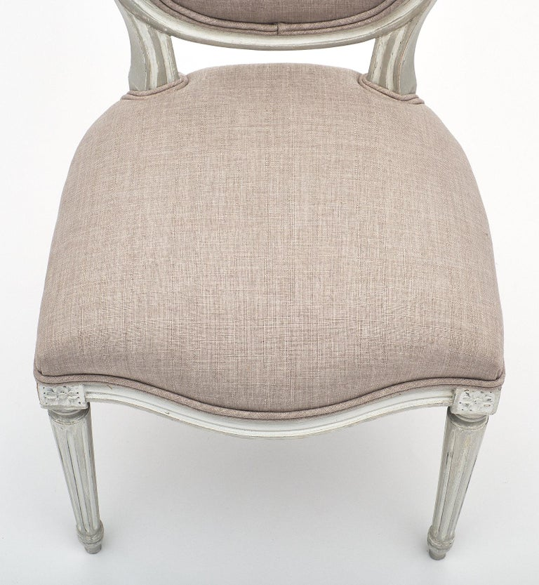 Antique Louis XVI Style Dining Chairs In Good Condition For Sale In Austin, TX