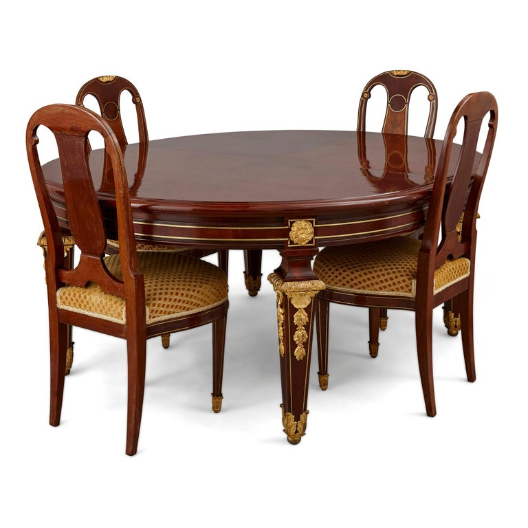 Gilt Antique Louis XVI Style Dining Table by Mercier Frères For Sale