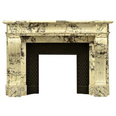 Antique Louis XVI Style Fireplace Mantel