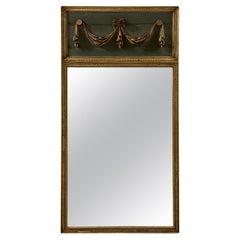 Antique Louis XVI Style French Trumeau Mirror