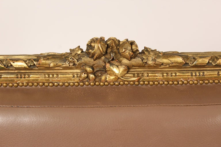 Antique Louis XVI Style Giltwood Armchair For Sale 4