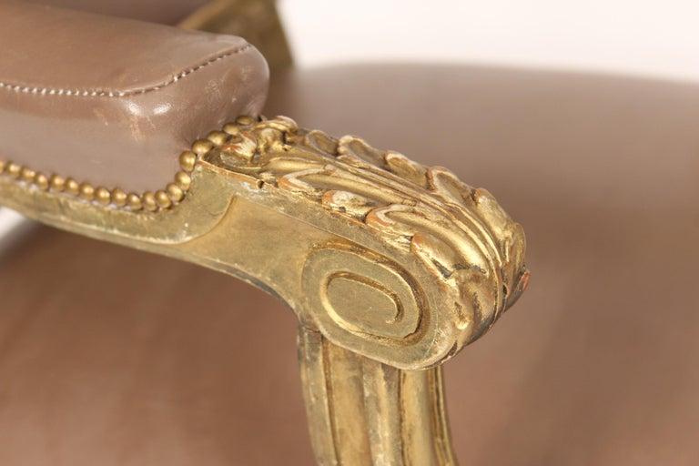 Antique Louis XVI Style Giltwood Armchair For Sale 5