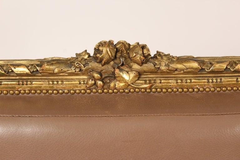 Antique Louis XVI Style Giltwood Armchair For Sale 6