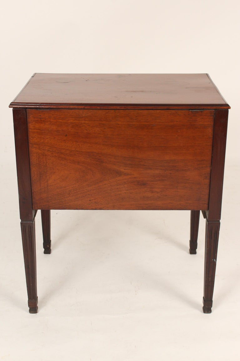19th Century Antique Louis XVI Style Mahogany Occasional Commode For Sale