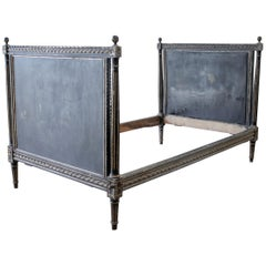 Antique Louis XVI Style Painted French Twin Size Daybed