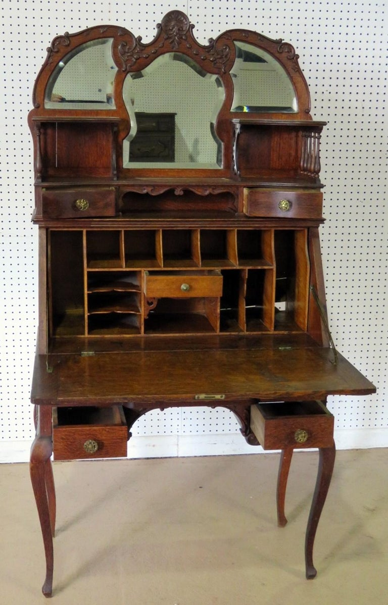 20th Century Antique Louis XVI Style Secretary Desk For Sale
