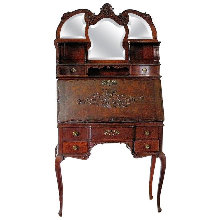 Antique Louis XVI Style Secretary Desk For Sale