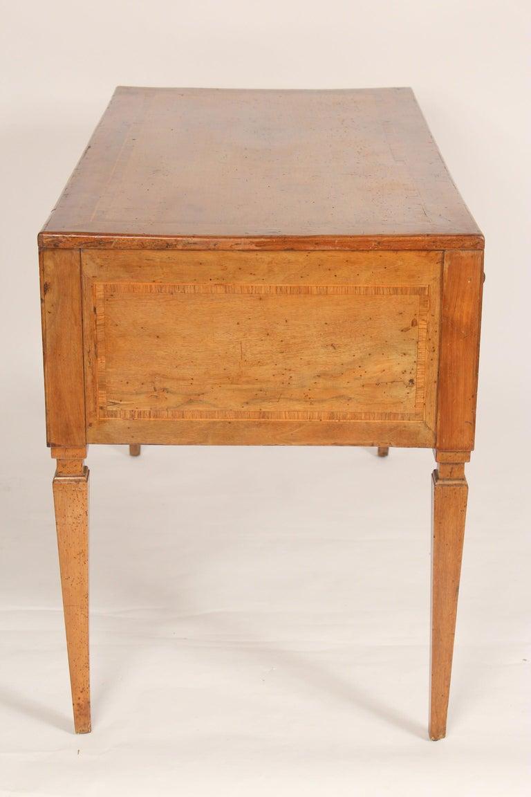 Antique Louis XVI Style Walnut Desk In Good Condition For Sale In Laguna Beach, CA