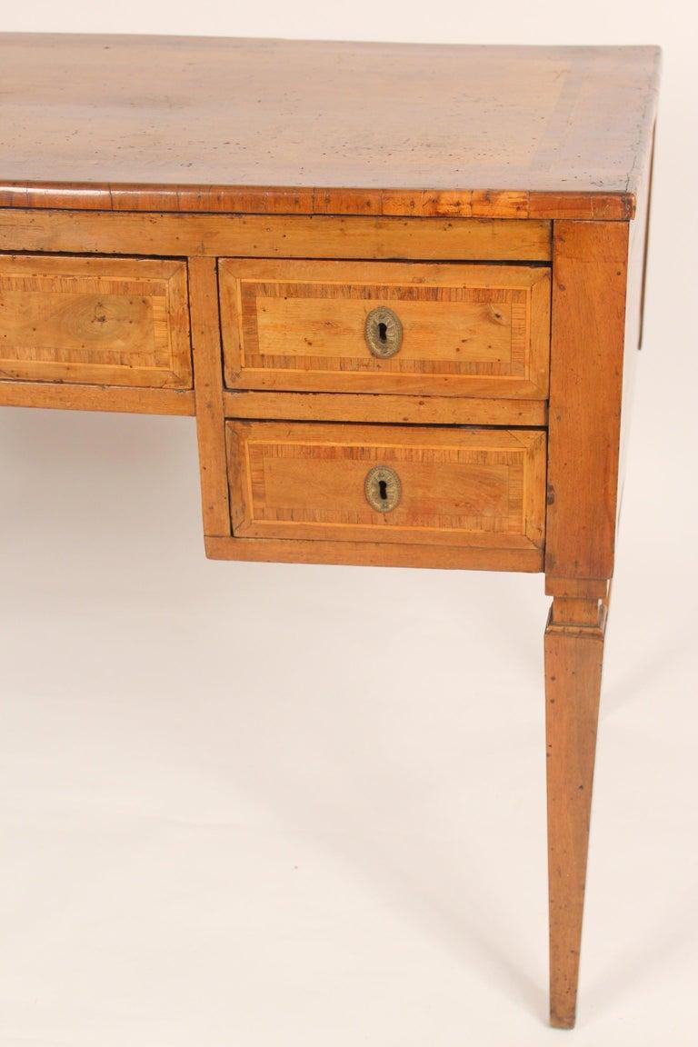 Antique Louis XVI Style Walnut Desk For Sale 3