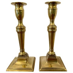 Antique Lovely Georgian Brass Candlesticks