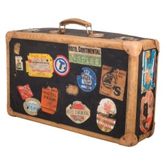 Antique Luggage with Original Travel Stickers, circa 1920
