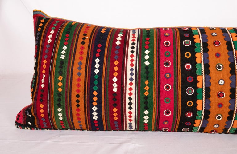 Tribal Antique Lumbar Made from a Western Anatolian Pomak Skirt For Sale
