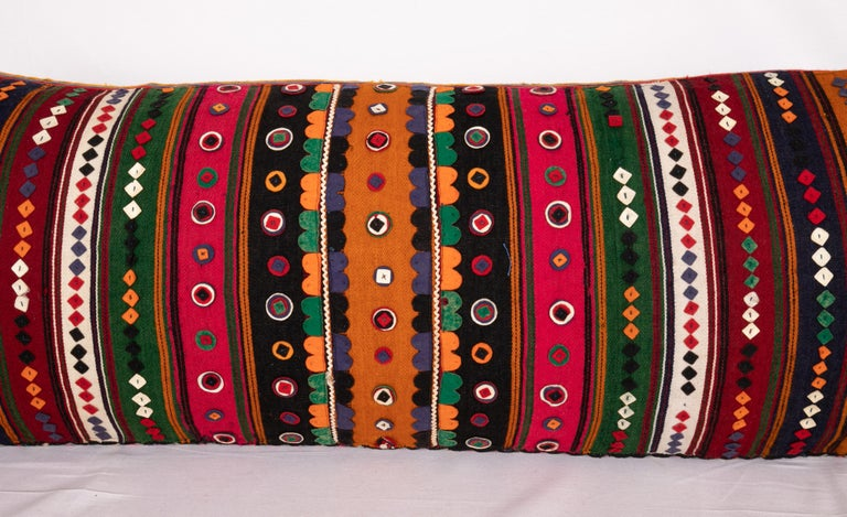 Turkish Antique Lumbar Made from a Western Anatolian Pomak Skirt For Sale