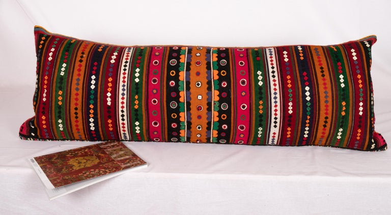Patchwork Antique Lumbar Made from a Western Anatolian Pomak Skirt For Sale