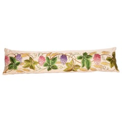 Antique Lumbar Pillow Case Made from an 18th-19th Century, European Embroidery