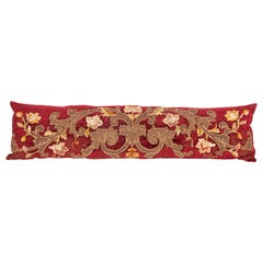 Antique Lumbar Pillow Case Made from an 18th Century European Applique Panel