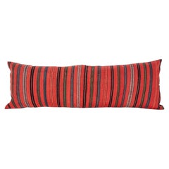 Antique Lumbar Pillow Case Made from an Early 20th Century Wool Jajim