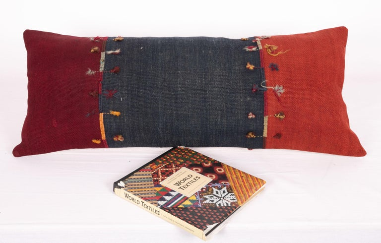 Turkish Antique Lumbar Pillow Case Made from an Eastern Anatolian Cover, Late 19th C For Sale