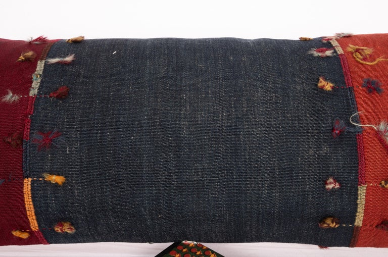 19th Century Antique Lumbar Pillow Case Made from an Eastern Anatolian Cover, Late 19th C For Sale