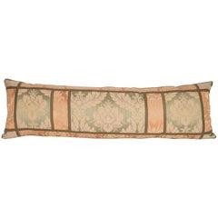 Antique Lumbar Pillowcase, Made from a Western European Damask Textile