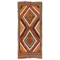 Antique Luri Kilim Vibrant Colors and Pattern will Compliment any Decor