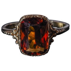 Antique Madeira Citrine Gent's Ring from Europe