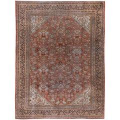 Antique Persian Mahal Carpet, Circa 1920s