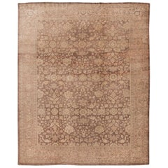 Antique Mahal Handmade Room Size Wool Rug