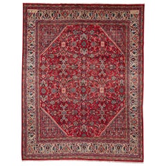 Antique Mahal Rug Signed and Dated 1919