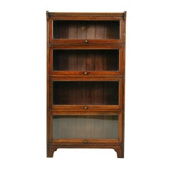 Antique Mahogany 4 Door Bookcase, Lawyers Sectional Bookcase, 1920s, B2352