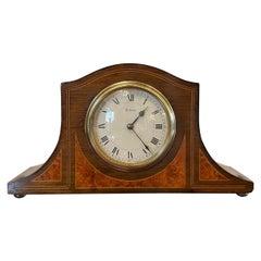 Antique Mahogany Amboyna Eight Day Clock