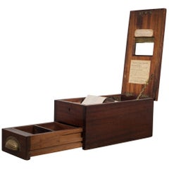 Antique Mahogany and Brass Cash Till, circa 1890