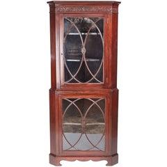 Antique Mahogany Astragal Glazed Corner Cabinet