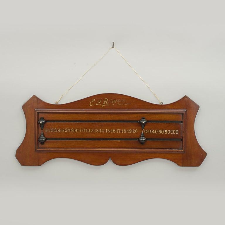 19th Century Antique Mahogany Billiard, Snooker Scoreboard by Riley of Accrington For Sale