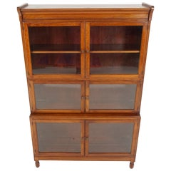 Antique Mahogany Bookcase, Lawyer Sectional Bookcase by Minty, 1920