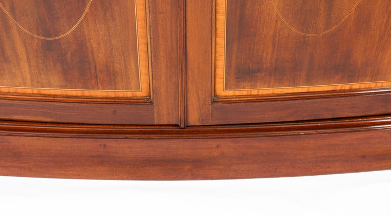 Antique Mahogany Bow Fronted Two-Door Wardrobe by Maple & Co, 19th Century For Sale 3