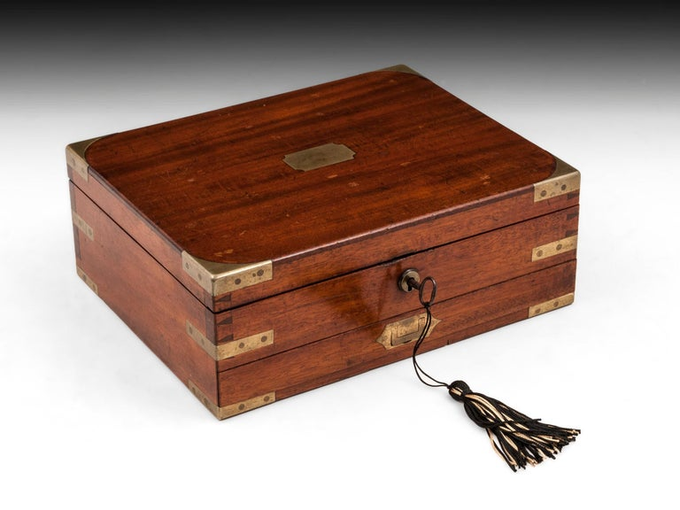 Antique Mahogany Brass Artists Box by James Newman London 19th Century For Sale 8