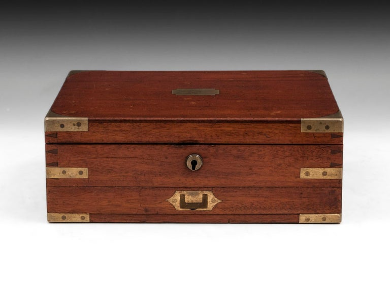 George IV Antique Mahogany Brass Artists Box by James Newman London 19th Century For Sale