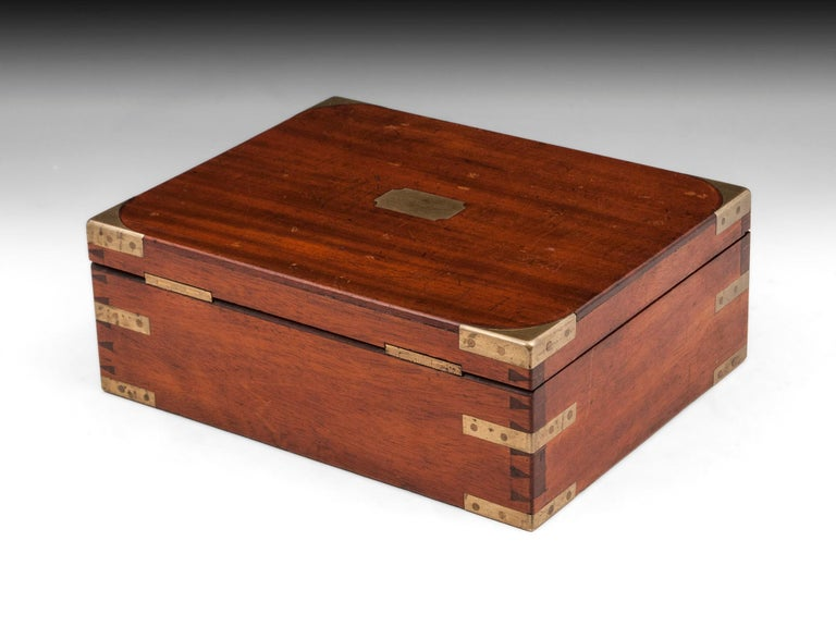 Antique Mahogany Brass Artists Box by James Newman London 19th Century For Sale 1