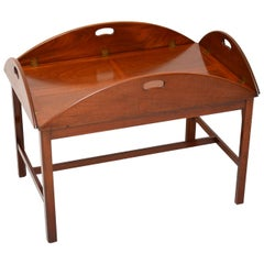 Antique Mahogany Butlers Tray Coffee Table