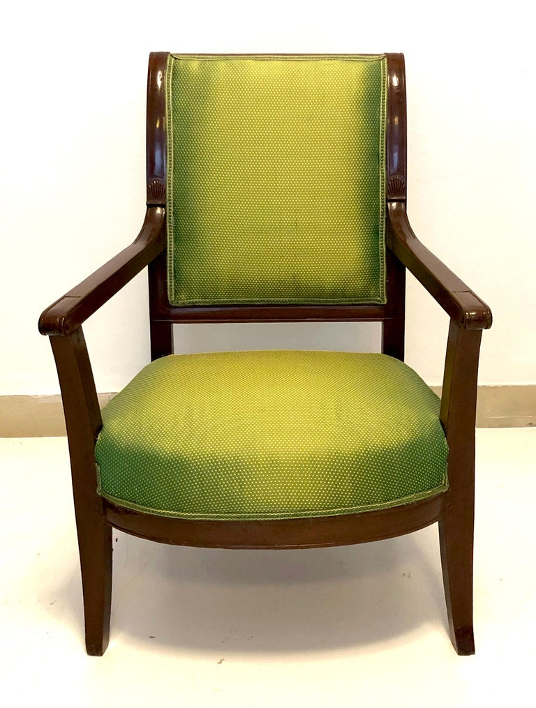 Empire Antique Mahogany Child Armchair, France For Sale