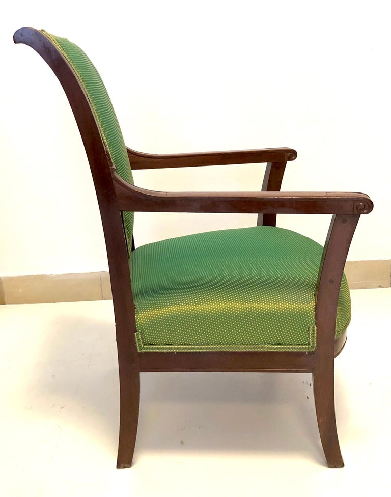 French Antique Mahogany Child Armchair, France For Sale