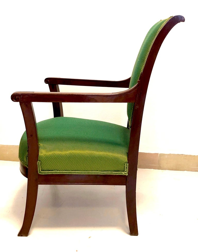 Antique Mahogany Child Armchair, France In Good Condition For Sale In Munich, DE