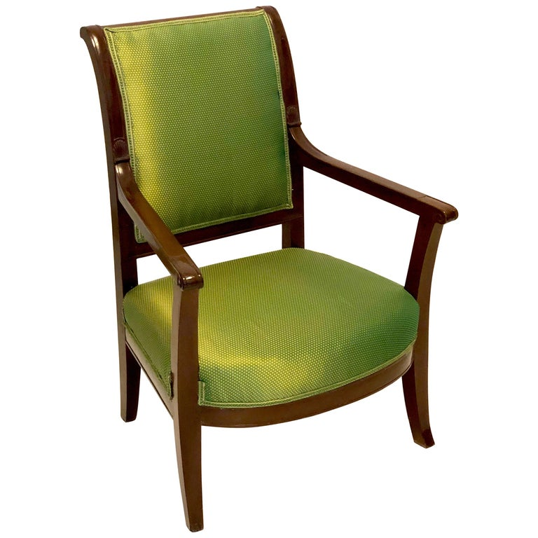 Antique Mahogany Child Armchair, France For Sale
