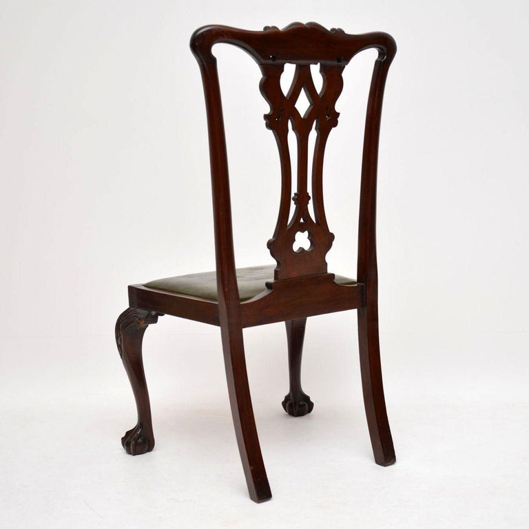 Antique Chippendale Dining Room Furniture: Antique Mahogany Chippendale Style Dining Table And Six