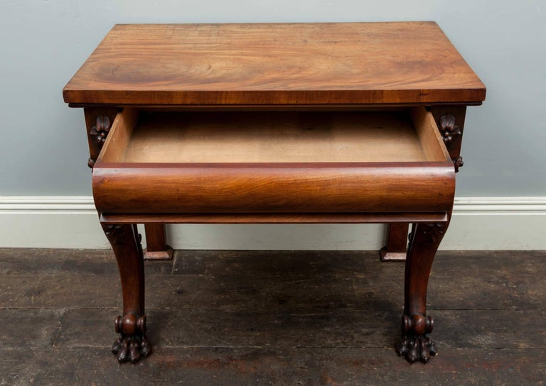 Regency Antique Mahogany Console Table For Sale
