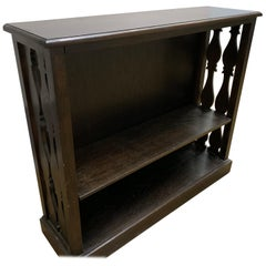 Antique Mahogany Display or Book Shelf with Detail