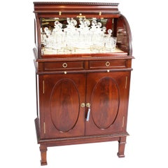 Antique Mahogany Drinks Cocktail Cabinet Dry Bar, 19th Century