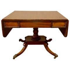 Antique Mahogany Drop-Leaf Sofa Table