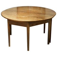 Antique Mahogany Extending Dining Table, Circular with Leaf